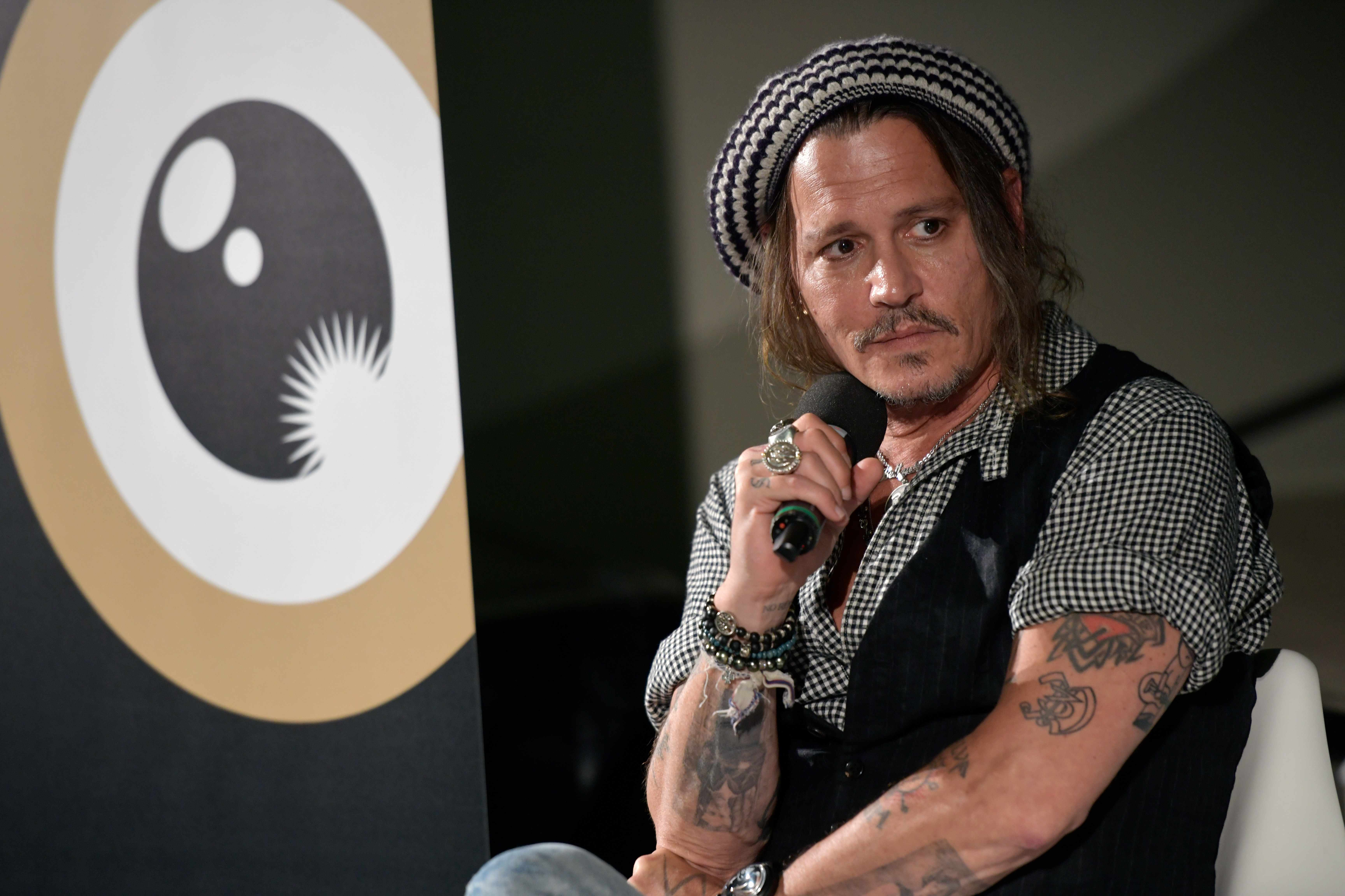 ZURICH, SWITZERLAND - OCTOBER 05: Johnny Depp speaks at the 'A conversation with...' event during the 14th Zurich Film Festival on October 05, 2018 in Zurich, Switzerland. (Photo by Thomas Lohnes/Getty Images)
