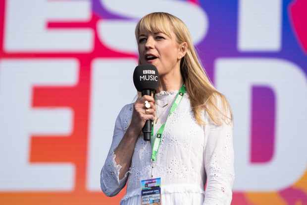 PERTH, SCOTLAND - MAY 26:  Sara cox introduces Emeli Sande at BBC Radio - The Biggest Weekend at Scone Palace on May 26, 2018 in Perth, Scotland.  (Photo by Lorne Thomson/Redferns)