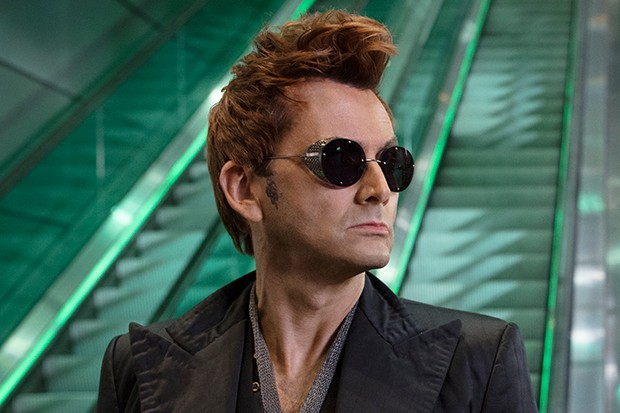 David Tennant plays Crowley in Good Omens