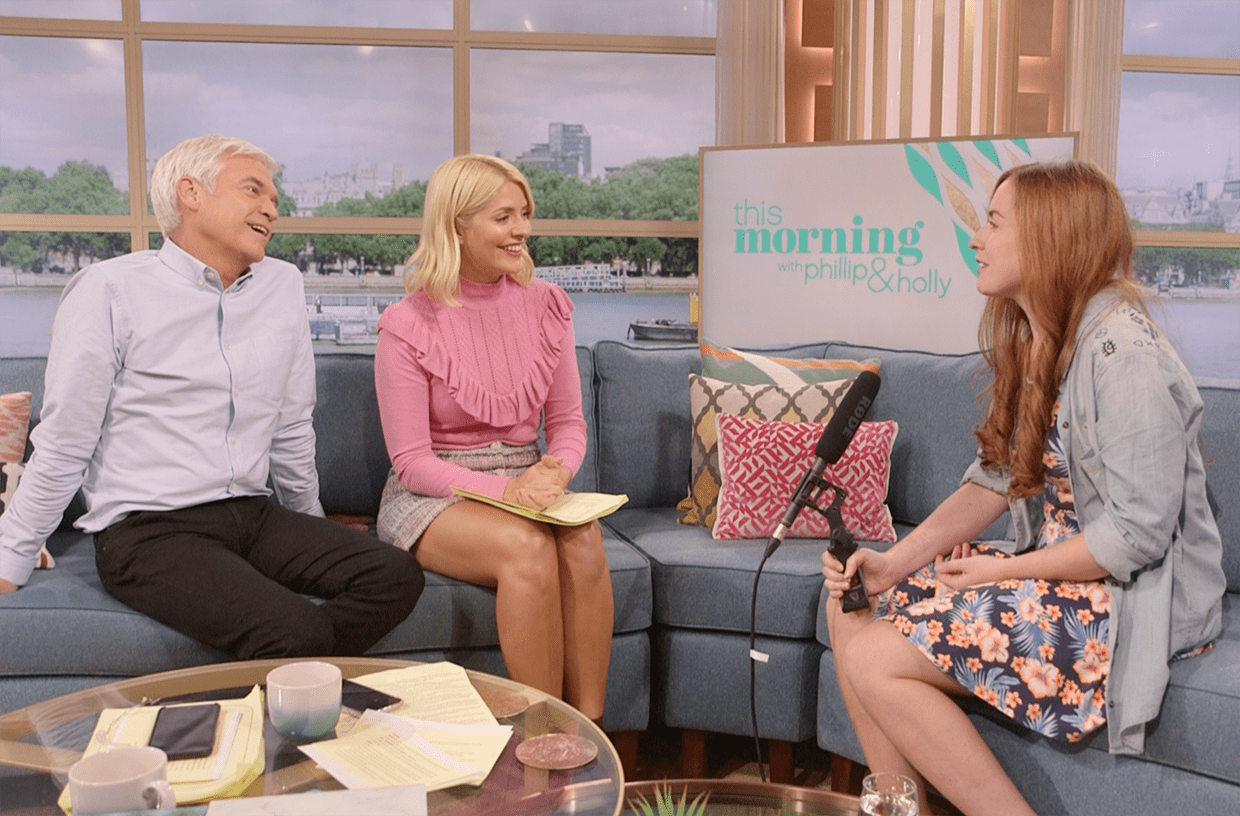 Phillip Schofield and Holly Willoughby Behind The Scenes on This Morning