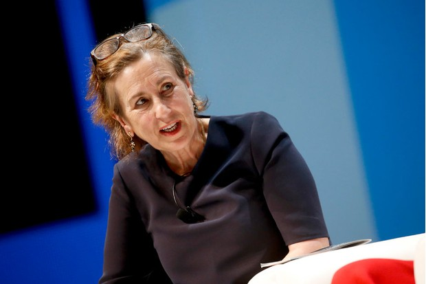 CANNES, FRANCE - JUNE 19: Kirsty Wark speaks onstage during the Edelman session at the Cannes Lions Festival 2018 on June 19, 2018 in Cannes, France. (Photo by Richard Bord/Getty Images for Cannes Lions)
