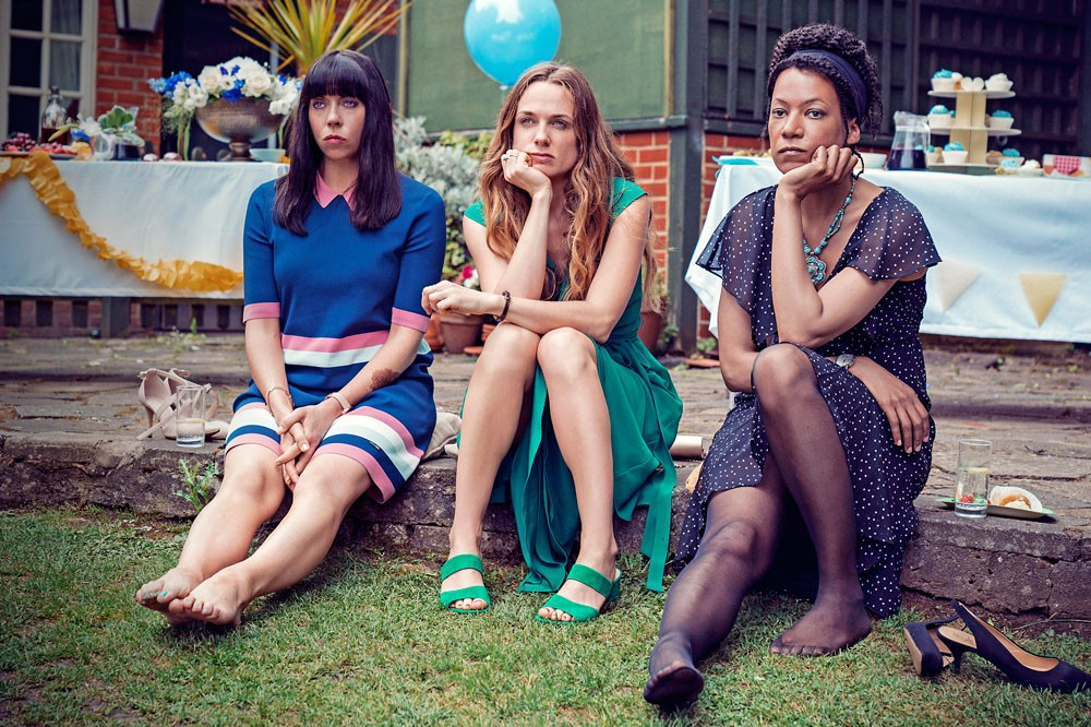 The leads in Women on the Verge, from left: Alison (Eileen Walsh), Laura (Kerry Condon) and Katie (Nina Sosanya) (W)