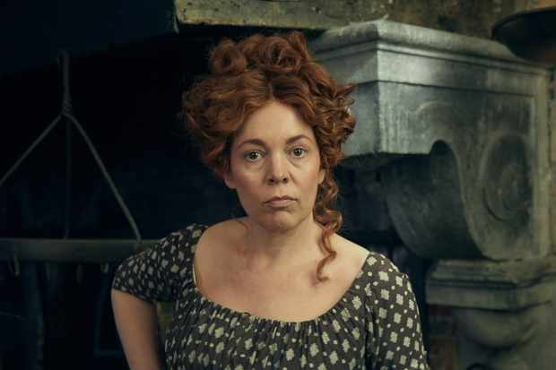 WARNING: Embargoed for publication until 22:00:00 on 15/10/2018 - Programme Name: Les Miserables - TX: 13/07/2018 - Episode: Les Miserables - First Look (No. n/a) - Picture Shows: **EMBARGOED FOR PUBLICATION UNTIL 22:00 HRS ON MONDAY 15TH OCTOBER 2018** Madame Thenardier (OLIVIA COLMAN) - (C) BBC - Photographer: Robert Viglasky