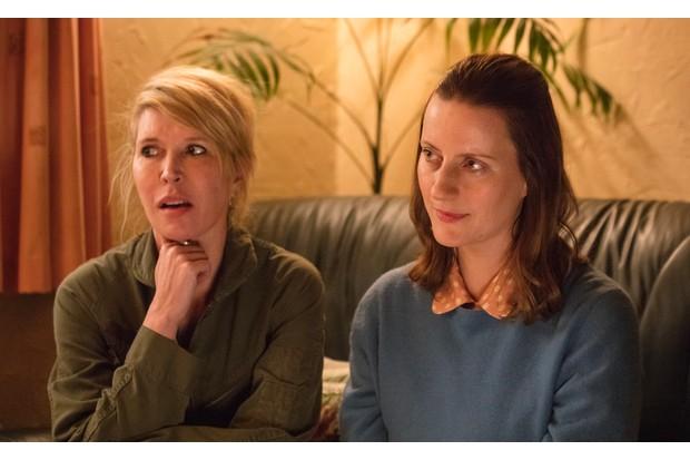 Julia Davis and Catherine Shepherd in Sally4Ever, Sky Publicity, BD