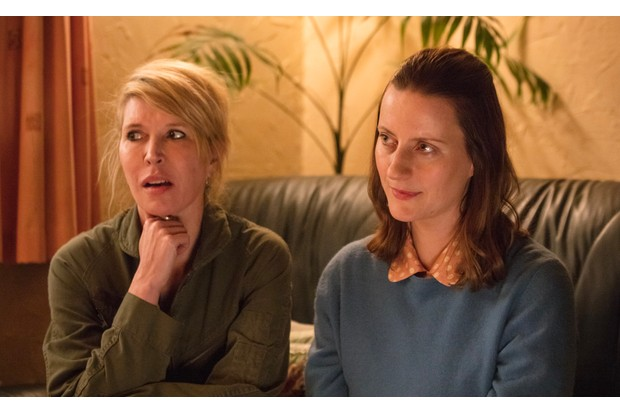 Julia Davis and Catherine Shepherd in Sally4Ever, Sky Publicity, BD