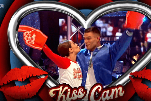 Strictly Come Dancing kiss screenshot (BBC)