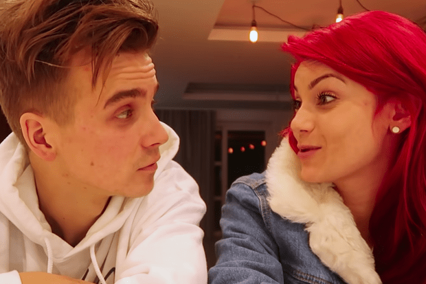 Joe Sugg, Dianne Buswell (youtube screenshot, EH)