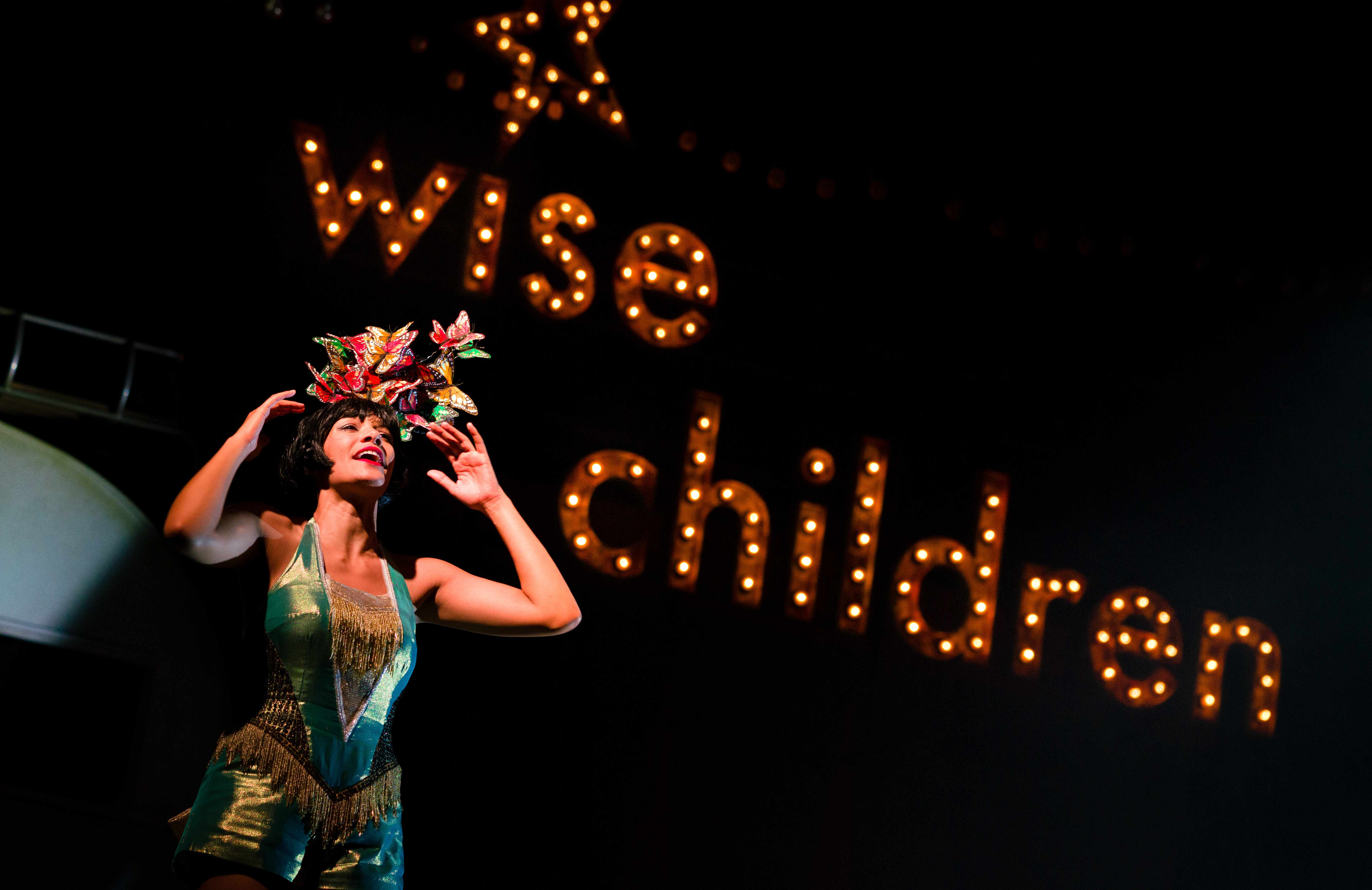 Showgirl Nora (Melissa James) in Wise Children at The Old Vic. Photo by Steve Tanner