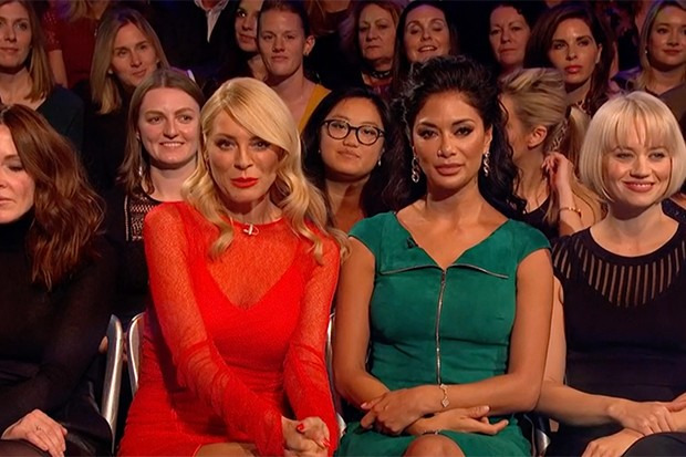 Tess Daly and Nicole Scherzinger