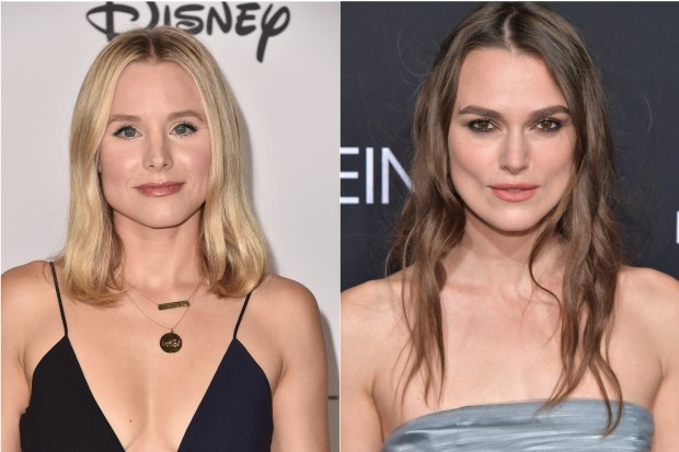 Keira Knightley, Kristen Bell (Getty)