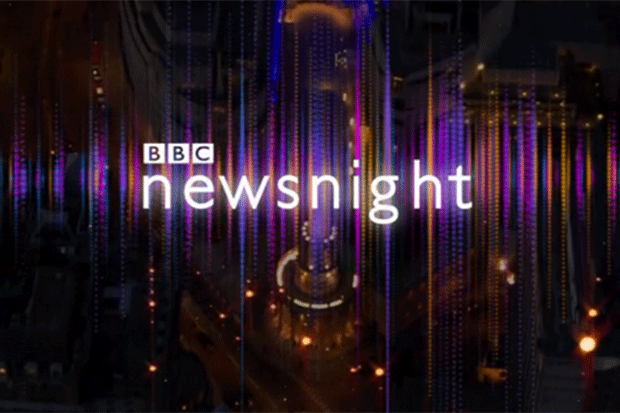 Newsnight logo screenshot (BBC)