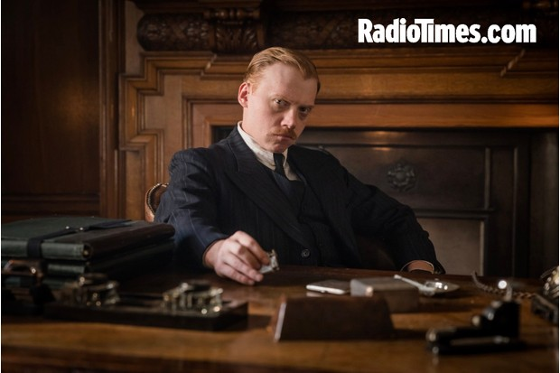 Harry Potter star Rupert Grint plays Inspector Crome in The ABC Murders on BBC1 (BBC)