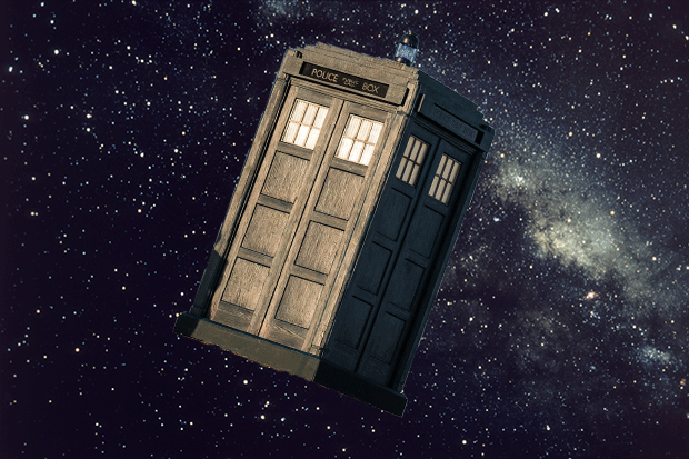Tardis in space, Getty and BBC Pictures