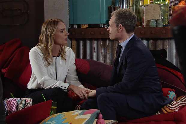 Nick and Elsa on Coronation Street