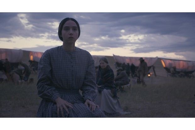 "Zoe Kazan as ""Alice Longabaugh"" in The Ballad of Buster Scruggs, a film by Joel and Ethan Coen."