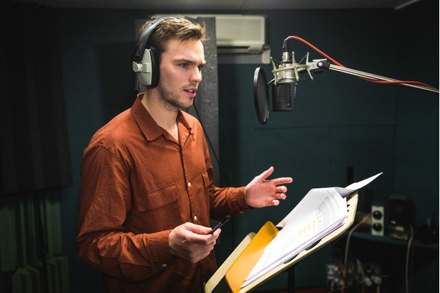 Programme Name: Watership Down - TX: n/a - Episode: Watership Down - BTS (No. BTS) - Picture Shows: Behind the scenes. Nicholas Hoult - (C) BBC - Photographer: Guy Levy