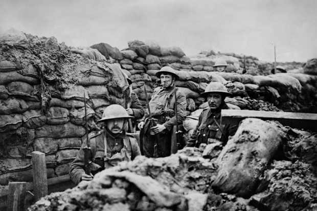 Programme Name: WW1's Secret Shame: Shell Shocked - TX: 12/11/2018 - Episode: n/a (No. n/a) - Picture Shows: British World War 1 soldiers in a front Line trench. 1915-18.  - (C) Shutterstock - Photographer: Unknown