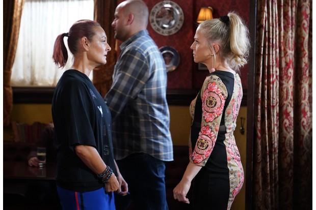 Linda, Tina and Stuart on EastEnders
