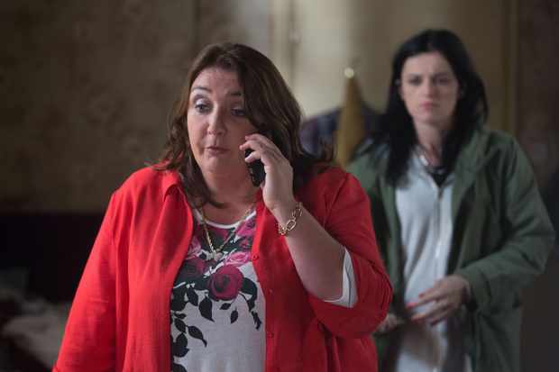 Hayley (Katie Jarvis) and Bev (Ashley McGuire) on EastEnders