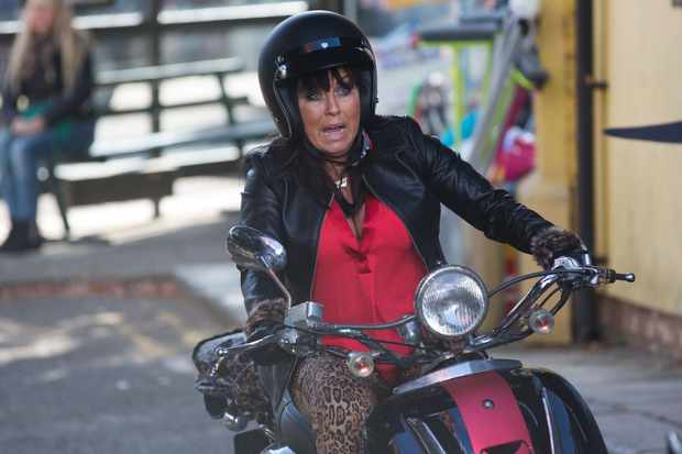 Kat (Jessie Wallace) has an accident on EastEnders