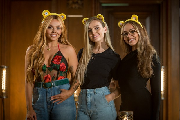 Little Mix's Jesy Nelson, Perrie Edwards, Jade Thirwell - (C) BBC