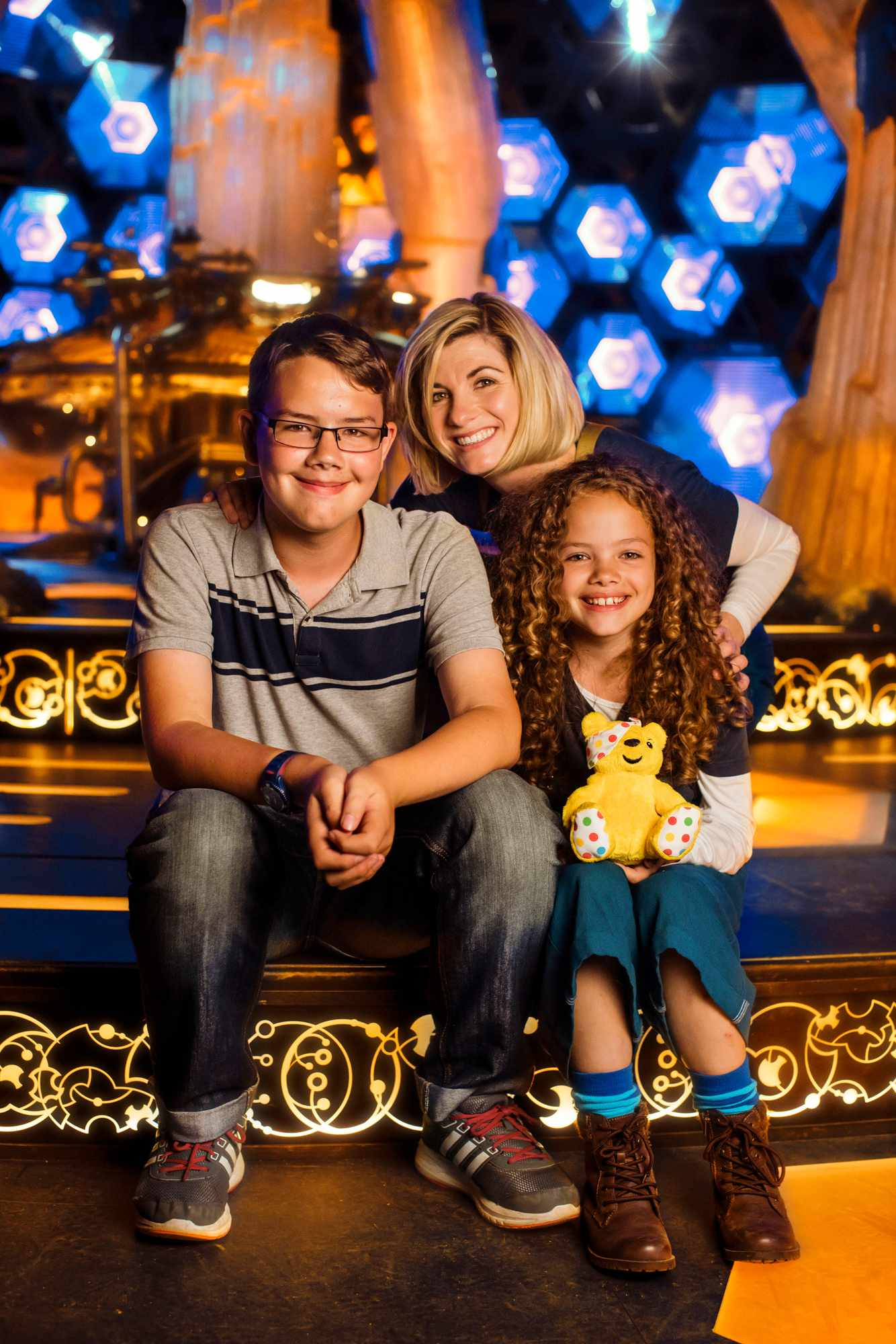 WARNING: Embargoed for publication until 00:00:01 on 16/11/2018 - Programme Name: BBC Children In Need 2018 - TX: n/a - Episode: BBC Children In Need 2018 (No. n/a) - Picture Shows: ++ to be placed ++  Children in Need go behind the scenes with Doctor Who  Alex, Jodie Whittaker, Anna - (C) BBC - Photographer: Sophie Mutevelian