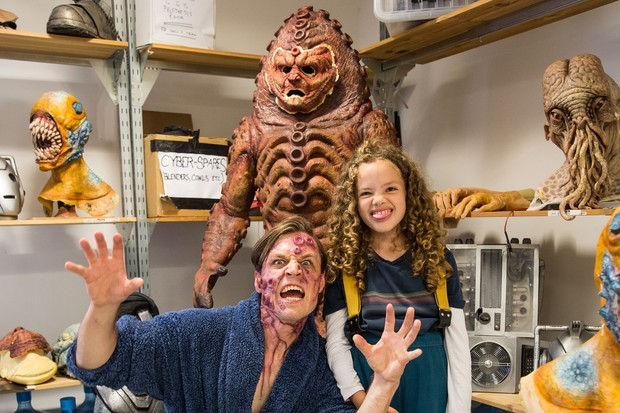 Anna takes on some monsters (BBC - Photographer: Sophie Mutevelian)