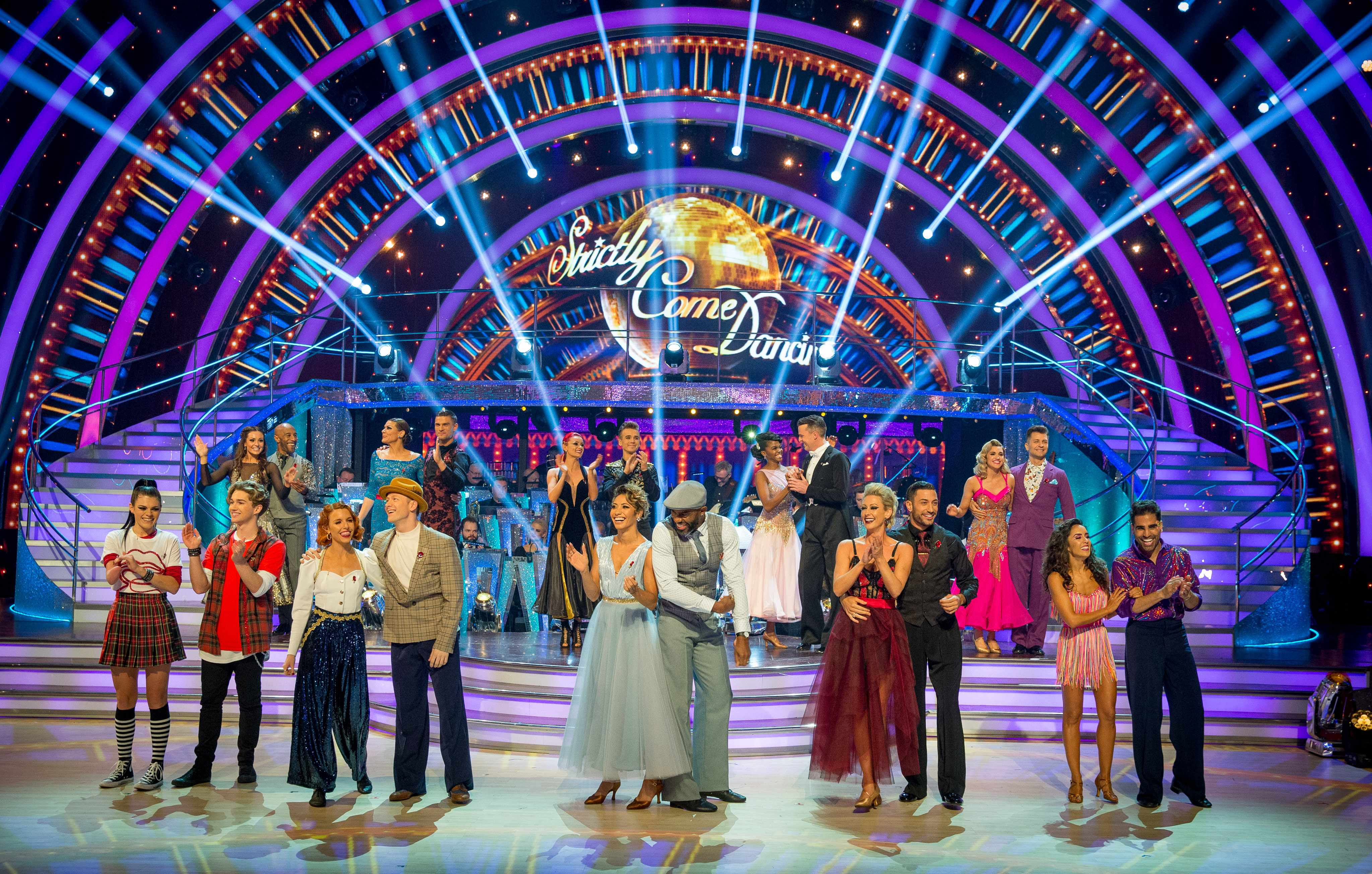 Programme Name: Strictly Come Dancing 2018 - TX: 03/11/2018 - Episode: n/a (No. n/a) - Picture Shows: **LIVE SHOW** The Strictly Come Dancing contestants and professional dancers - (C) BBC - Photographer: Guy Levy