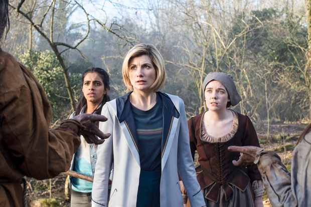WARNING: Embargoed for publication until 00:00:01 on 20/11/2018 - Programme Name: Doctor Who Series 11 - TX: 25/11/2018 - Episode: n/a (No. 8) - Picture Shows: PRE-TX **Strictly embargoed until 20/11/18 00:00:01** Yaz (MANDIP GILL), The Doctor (JODIE WHITTAKER), Willa Twiston (TILLY STEELE) - (C) BBC / BBC Studios - Photographer: Sophie Mutevelian