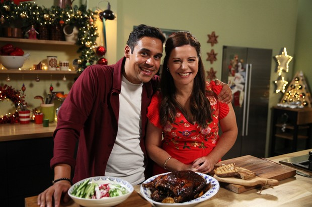 Programme Name: Best Christmas Food Ever - TX: n/a - Episode: Best Christmas Food Ever - generics (No. Generics) - Picture Shows: Paul Ainsworth, Catherine Fulvio - (C) Hungry Gap Productions Ltd. - Photographer: Jacobo Fernandez Garcia