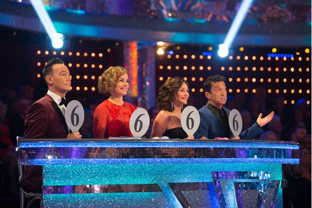 Craig Revel Horwood, Dame Darcey Bussell, Shirley Ballas and Bruno Tonioli on the Strictly Come Dancing judging panel in 2018 (BBC)