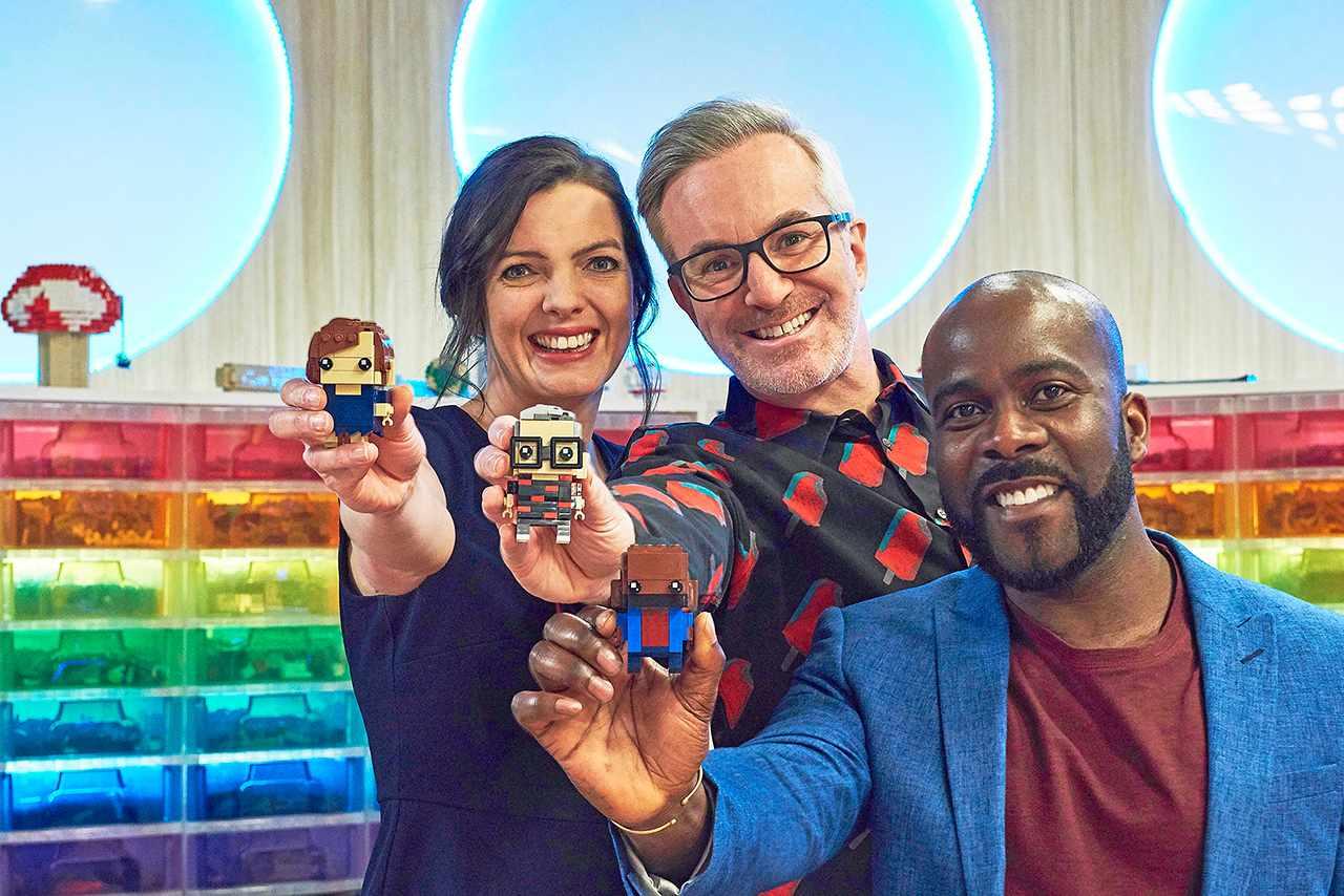 Fran Scott, Matthew Ashton and Melvin Odoom present Lego Masters series two (Channel 4)