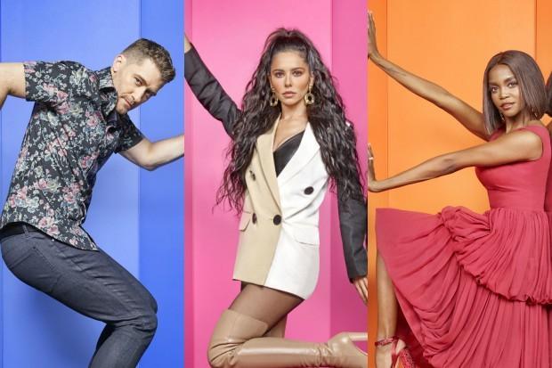Matthew Morrison, Cheryl and Oti Mabuse in The Greatest Dancer (BBC)