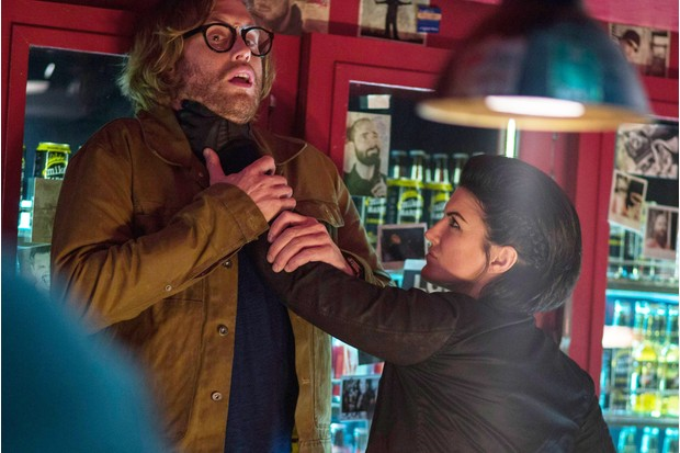 T. J. Miller as Weasel,Gina Carano as Angel Dust in Deadpool