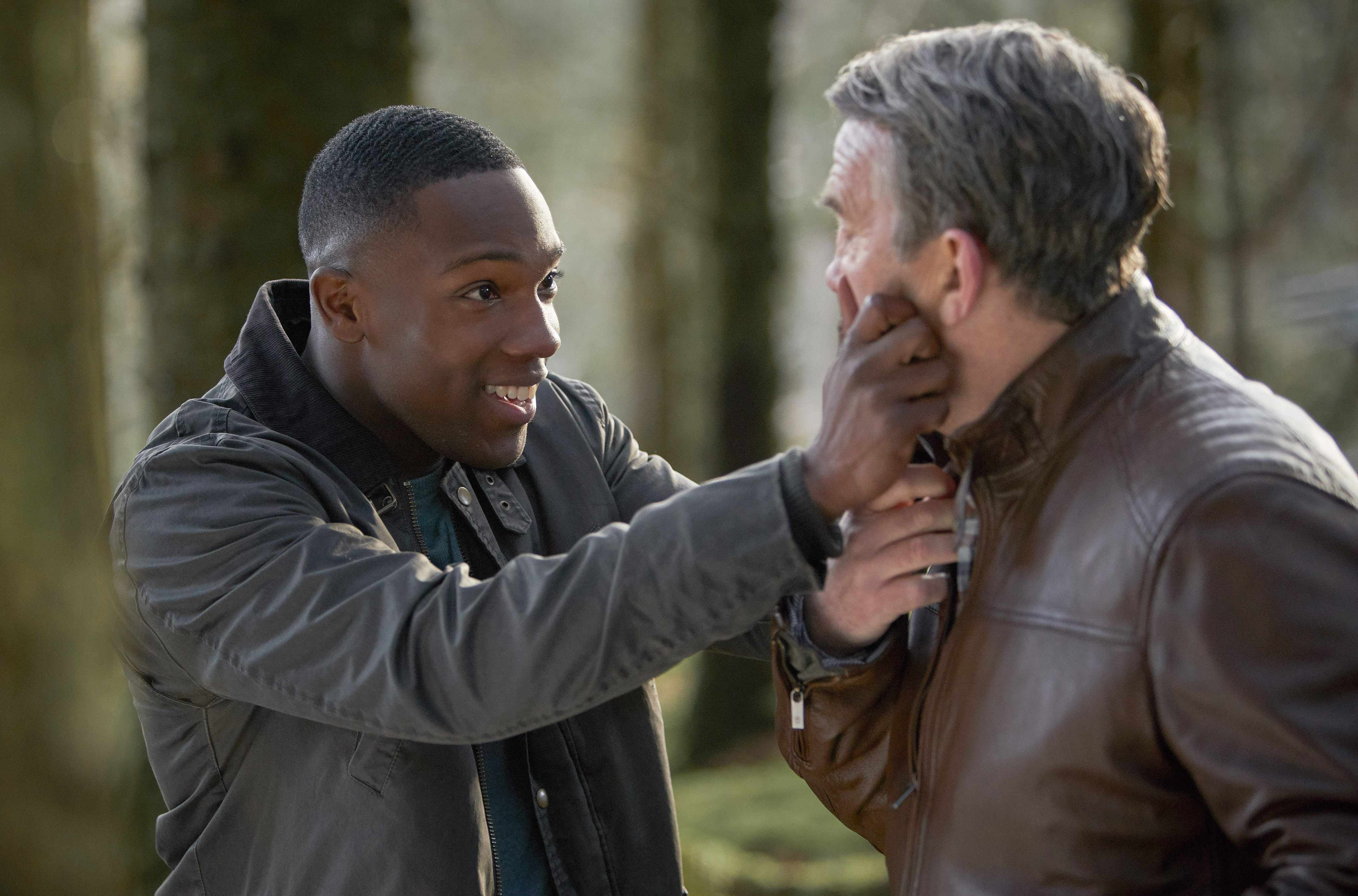 WARNING: Embargoed for publication until 00:00:01 on 27/11/2018 - Programme Name: Doctor Who Series 11 - TX: 02/12/2018 - Episode: n/a (No. 9) - Picture Shows: PRE TX  **STRICTLY EMBARGOED UNTIL 27/11/2018 00:00:01** Ryan (TOSIN COLE), Graham (BRADLEY WALSH) - (C) BBC / BBC Studios - Photographer: Simon Ridgway