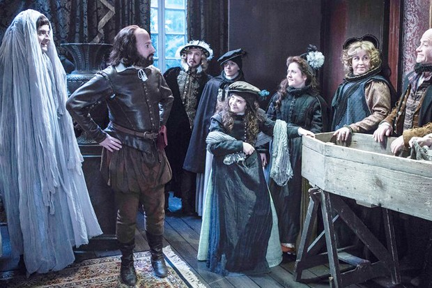 David Mitchell and the cast of Upstart Crow in the 2018 Christmas special (BBC)