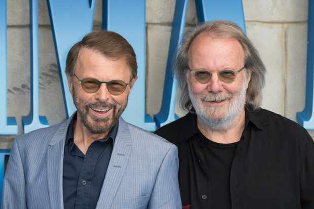 "LONDON, ENGLAND - JULY 16:  (L-R) Benny Andersson and Bjorn Ulvaeus from ABBA attend the UK Premiere of ""Mamma Mia! Here We Go Again"" at Eventim Apollo on July 16, 2018 in London, England.  (Photo by Jeff Spicer/Getty Images)  TL"