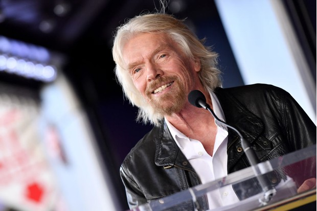 HOLLYWOOD, CA - OCTOBER 16: Sir Richard Branson is honored with star on the Hollywood Walk of Fame on October 16, 2018 in Hollywood, California. (Photo by Axelle/Bauer-Griffin/FilmMagic)