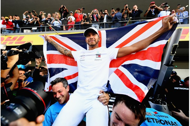 2018 F1 champion Lewis Hamilton has been voted third in the greatest Sports Personality winner of all time poll (Getty)