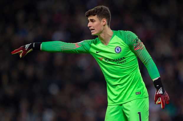 LONDON, ENGLAND - NOVEMBER 24: Chelsea goalkeeper Kepa Arrizabalaga during the Premier League match between Tottenham Hotspur and Chelsea FC at Tottenham Hotspur Stadium on November 24, 2018 in London, United Kingdom. (Photo by Visionhaus/Getty Images)
