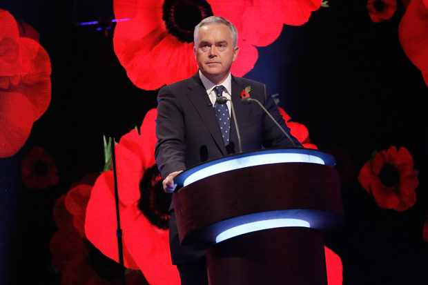 LONDON, ENGLAND - NOVEMBER 08:  Huw Edwards on stage during The Royal British Legion's Festival of Remembrance matinee performance at Royal Albert Hall on November 8, 2014 in London, England.  (Photo by Tim P. Whitby/Getty Images for The Royal British Legion)