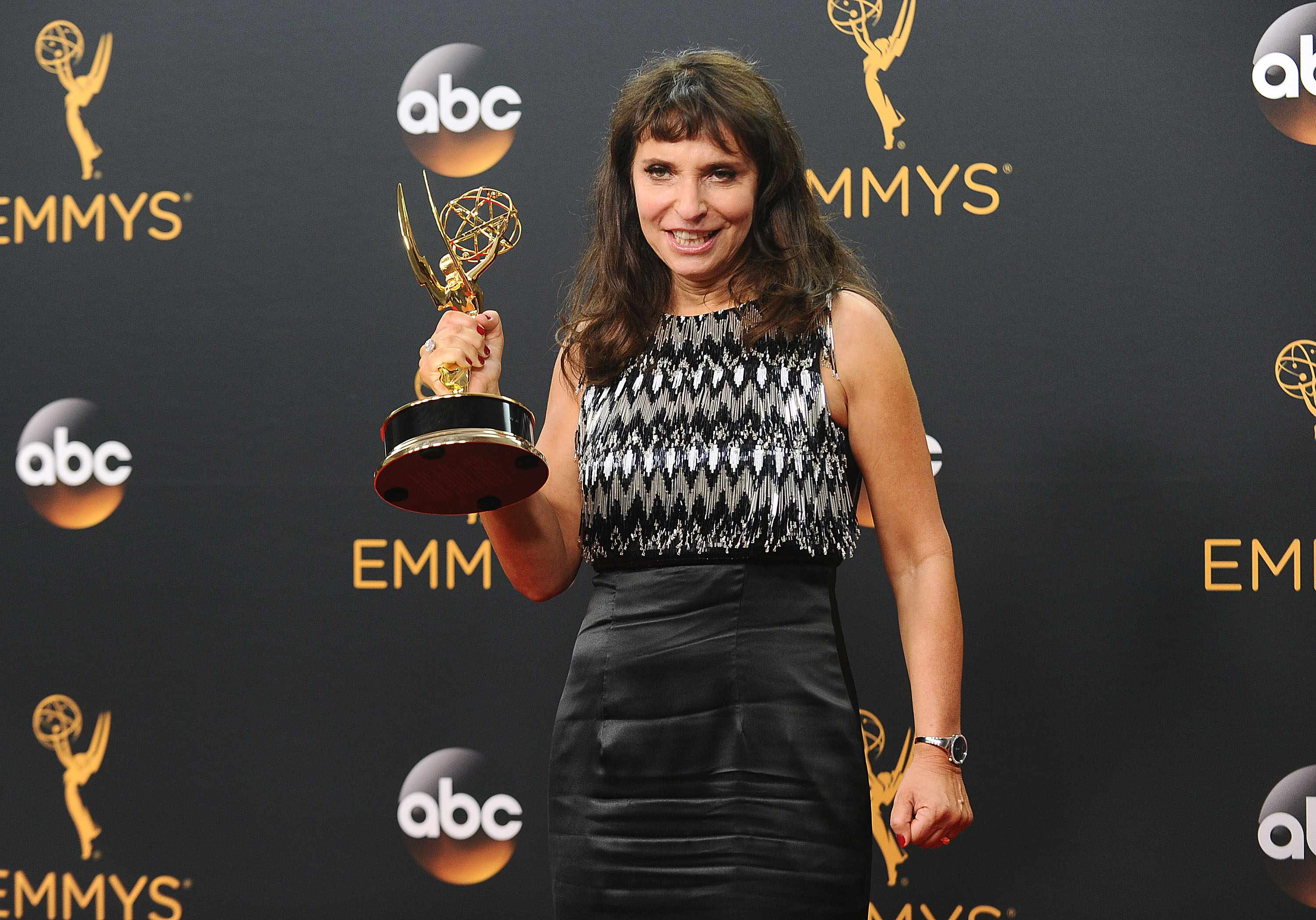 LOS ANGELES, CA - SEPTEMBER 18:  Director Susanne Bier poses in the press room at the 68th annual Primetime Emmy Awards at Microsoft Theater on September 18, 2016 in Los Angeles, California.  (Photo by Jason LaVeris/FilmMagic)