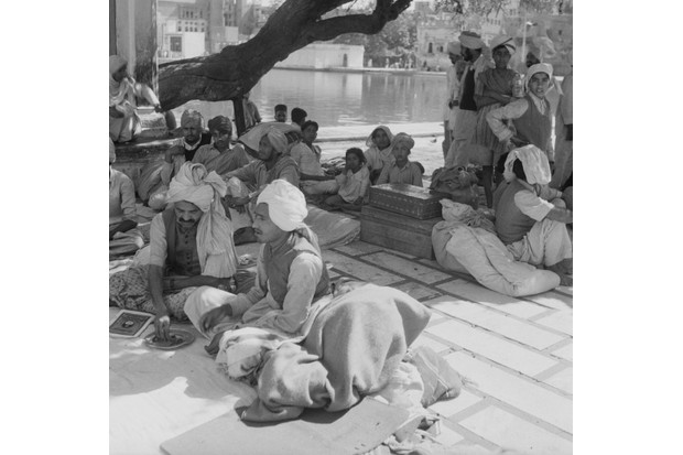 Refugees At The Golden Temple, in the Punjab region (Getty)