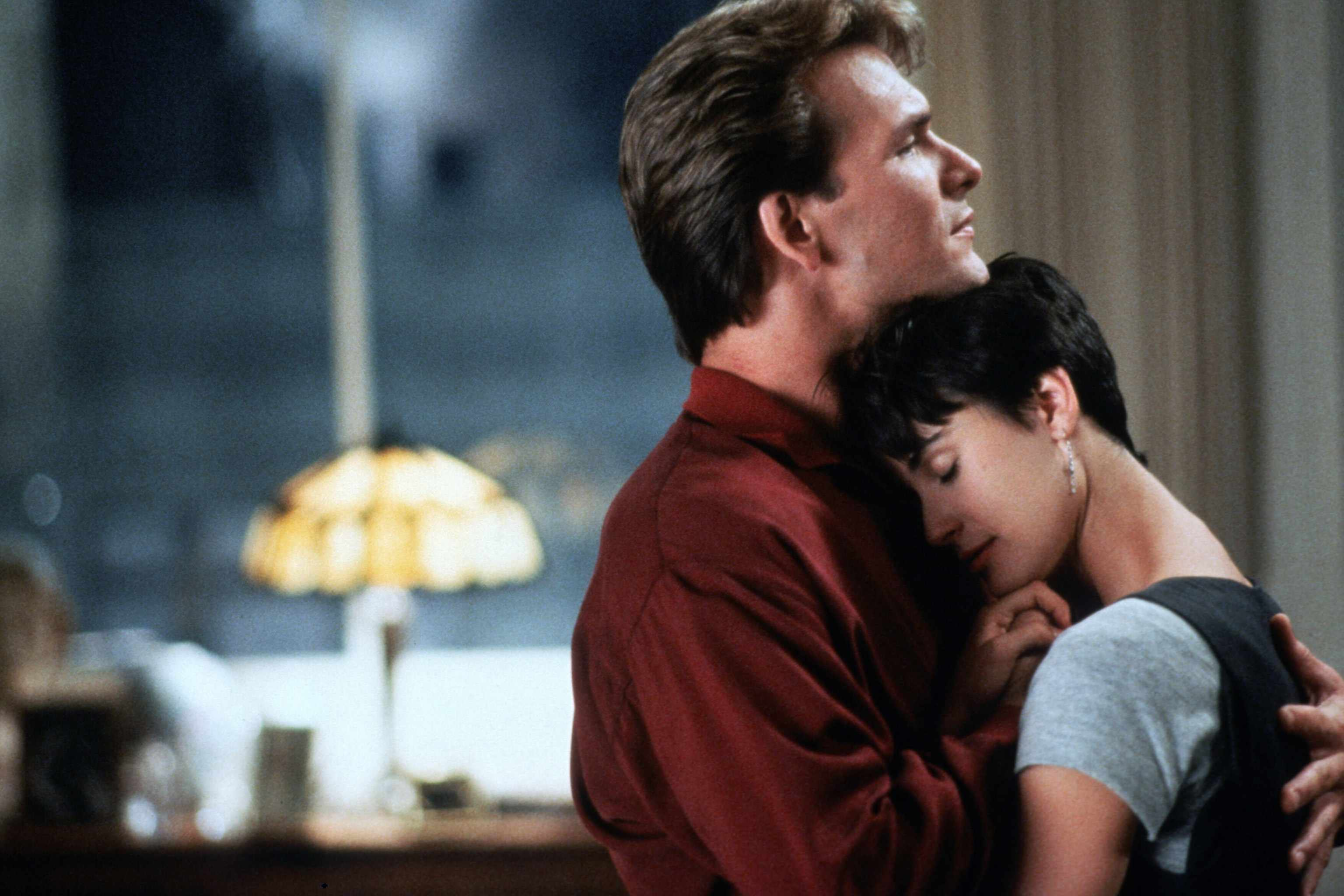 Patrick Swayze and  Demi Moore in Ghost (Sky, EH)