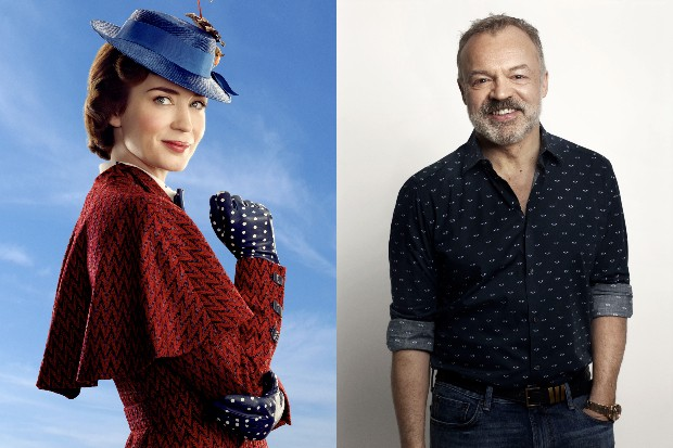 Emily Blunt as Mary Poppins with Graham Norton (Disney, BBC)