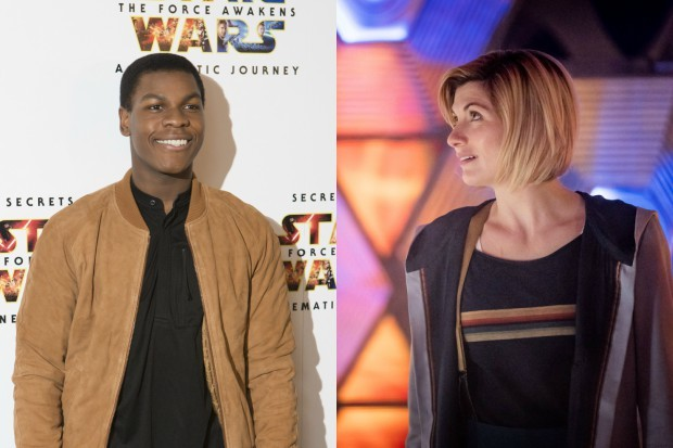 Star Wars' John Boyega with Doctor Who star Jodie Whittaker (Getty, BBC)