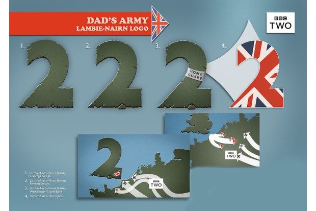 A design sheet provided by kind permission by Robert Ritchie. Lambie-Nairn, a branding agency before it merged into Superunion in 2017, designed the number 2 for BBC2 in 1997