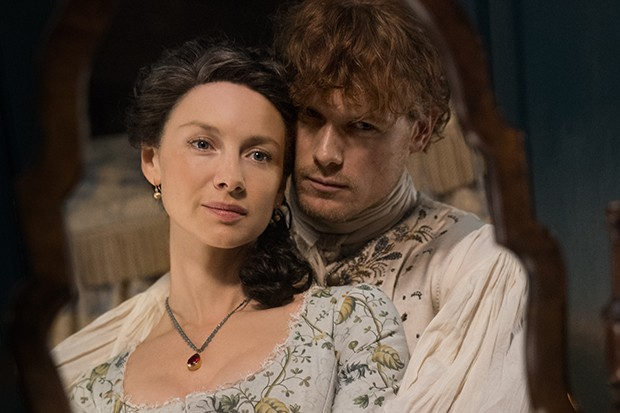 Jamie and Claire in Outlander