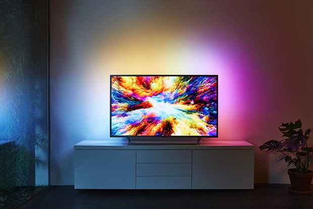 Philips 55-Inch 4K Ultra HD Android Smart TV with HDR Plus and Ambilight 3-sided