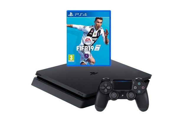 PlayStation 4 500GB with FIFA 19 Bundle - Black